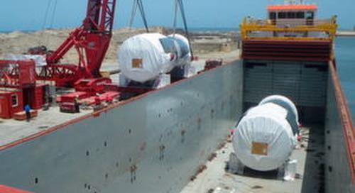DB Schenker bringt mehr als 100.000 t Kraftwerksteile nach Ägypten