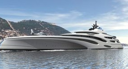 120m trimaran concept from Echo Yachts