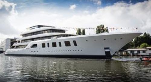 Feadship launches 92-metre Aquarius