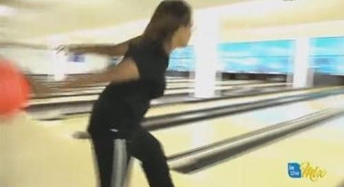 Rock-n-Bowl challenge- Chris vs. Sabrina on the lanes