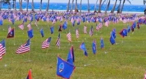 volunteers sought to raise Memorial Day flags