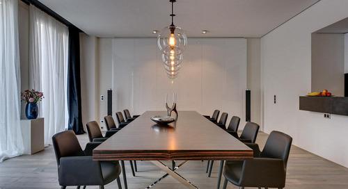 Modern Loft in Berlin Incorporates Niche Handmade Pendant Lighting