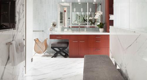 5 Contemporary Bathrooms with Niche's Pharos Handmade Pendant Light