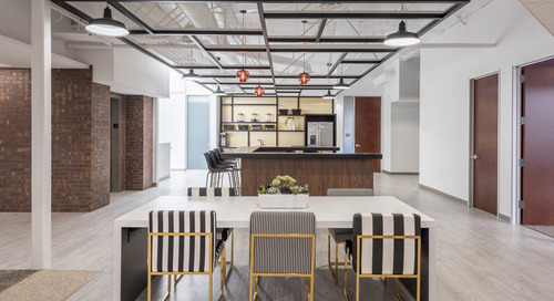 Modern Office Lighting Featured in Unified, Creative Work Space