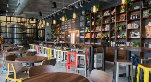Veza Sur Brewing Company Features Vibrant Pendant Lighting