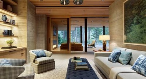 Modern Tahoe Mountain Retreat Features Handmade Pendant Lighting