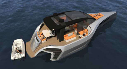 Tri60 trimaran day boat concept from BMT and McConaghy