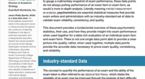 Exam Quality Through the Use of Psychometric Analysis