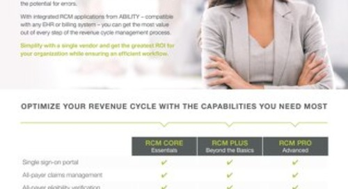 ABILITY RCM Bundles for Acute Providers