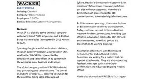 Customer Success Story: Wacker Chemie