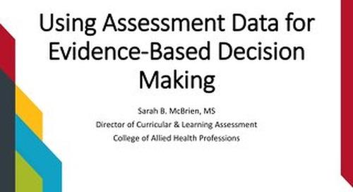 AOT Toronto - Using Assessment Data for Evidence-Based Decision Making