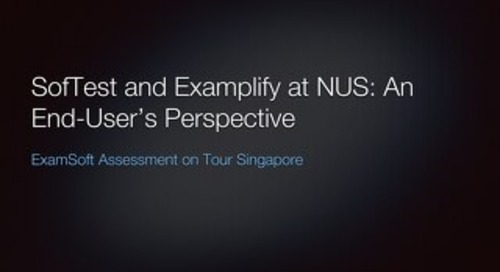 AOT Singapore SofTest and Examplify at NUS An End Users Perspective