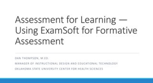 AOT San Francisco — Assessment for Learning: Using ExamSoft for Formative Assessment