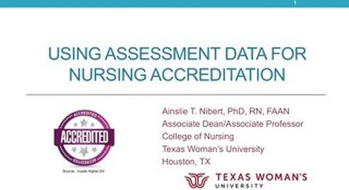 AOT San Francisco — Using Assessment Data for Nursing Accreditation