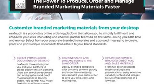 Order and Manage Branded Marketing Materials Faster with nexTouch