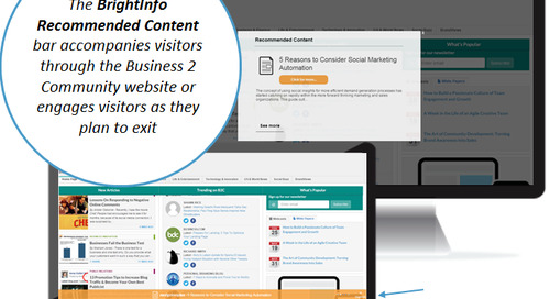 Business2Community Publication grows Premium Content Revenue 300% with BrightInfo
