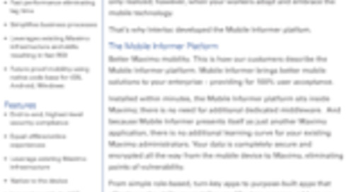 Mobile Informer Data Sheet