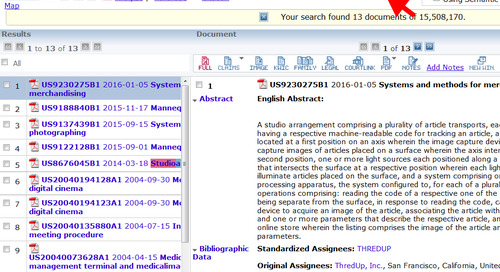 Did you know… In TotalPatent™ you can view your results list and individual documents in the same screen?