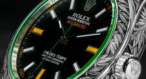 Hand-engraved Weed-Themed Rolex Sells for £30k