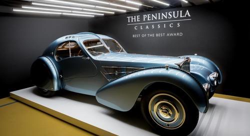 "Bugatti Type 57SC Atlantic Wins Peninsula Classic ""Best Of The Best"" Award"
