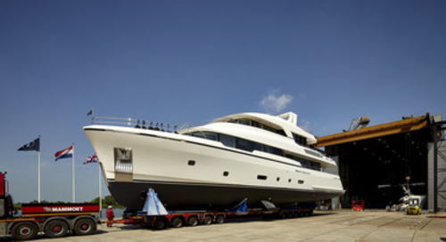 Moonen Launch First High-Tensile Steel Hull Yacht