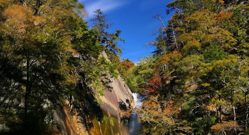 Sengataki Waterfall, Kofu Yamanashi Japan.