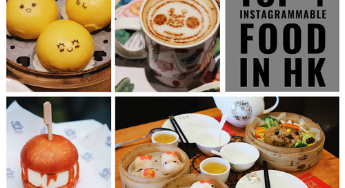 TOP 4 FOOD FOR INSTAGRAM IN HONG KONG!