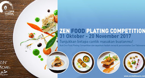 Zen Tableware, Perfection Of Food Plating, Jakarta
