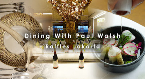 Dining With Paul Walsh, Arts Café, Raffles Jakarta