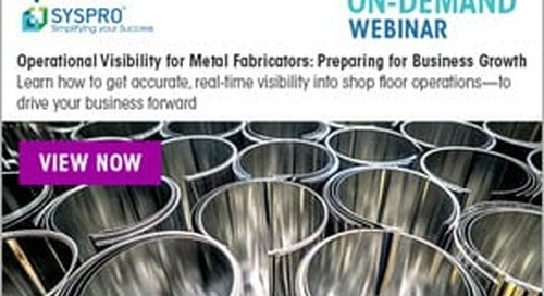 [ON-DEMAND WEBINAR] Operational Visibility for Metal Fabricators