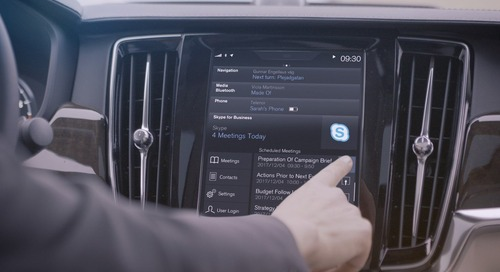 Never miss a meeting with Skype for Business... in a Volvo