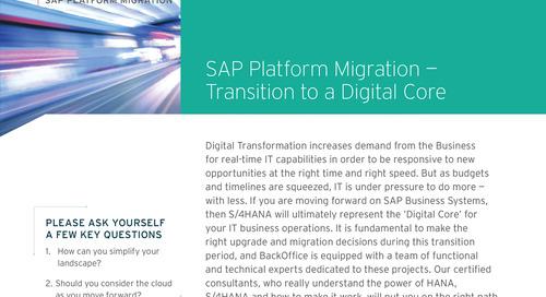 SAP Platform Migration