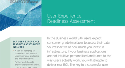 User Experience Readiness Assessment
