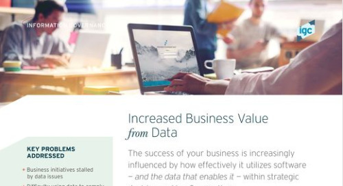 Increased Business Value from Data