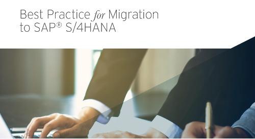 Best Practice for Migration to SAP S/4HANA