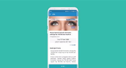 Harga Spesial Eyelash Extension seharga Rp 199.000,- dari Nailtrix