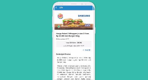 Harga Paket 2 Whopper Jr dan 2 Fries Rp 45.000,- dari Burger King