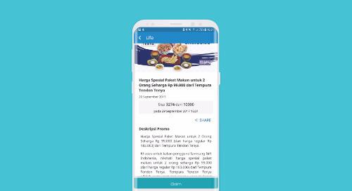 Harga Spesial Paket Makan untuk 2 Orang Seharga Rp 99.000,- dari Tempura Tendon Tenya