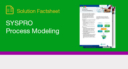 SYSPRO Process Modeling