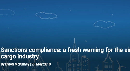 Sanctions compliance: a fresh warning for the air cargo industry