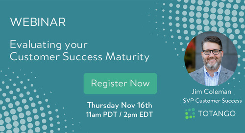 Nov 16 Webinar - Evaluating your Customer Success Maturity
