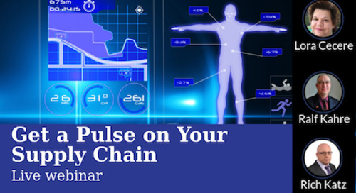 Live Webinar, Friday October 20: Get a Pulse on Your Supply Chain