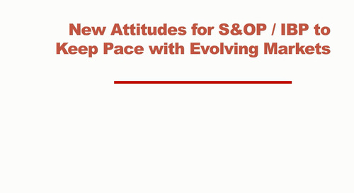Webinar: New Attitudes for Procurement on S&OP