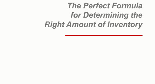 Webinar: The Perfect Formula for the Right Amount of Inventory