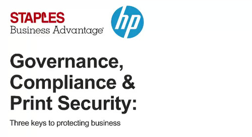 Webinar: Governance, Compliance, and Print Security