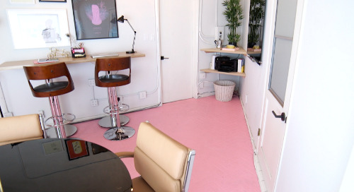Pink Floors Makeover: Office Goals on the Road with Mr. Kate