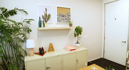 No-Paint-Allowed Makeover: Office Goals on the Road with Mr. Kate