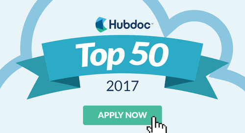 Apply to Be a Hubdoc Top 50 Cloud Accountant of 2017
