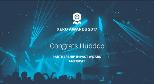 [PRESS RELEASE] Hubdoc Wins Partnership Impact Award in the Annual Xero Awards Americas