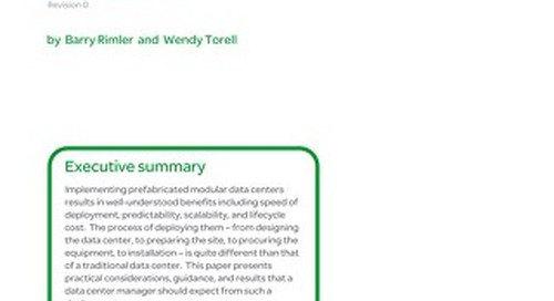 WP 166 - Practical Considerations for Implementing Prefabricated Data Centers